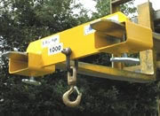 Forklift lifting hook