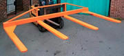 Forklift multi tine attachment